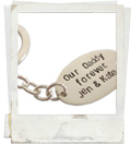 sterling silver personalised keyring