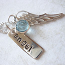 sterling silver angel wing baby loss charm necklace