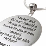 sterling silver and glass quote jewellery, coming soon