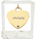 posh mommy engraved heart pendant with birthstone