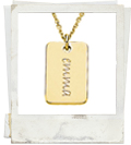 posh mommy engraved mini dog tag