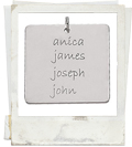 posh mommy square engraved mother pendant